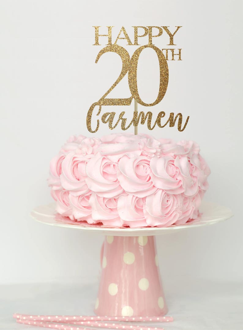 20 And Fabulous Cake Topper Birthday Decorations