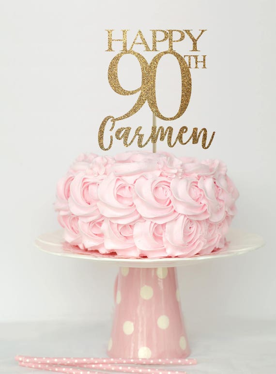 90 And Fabulous Cake Topper Birthday Decorations