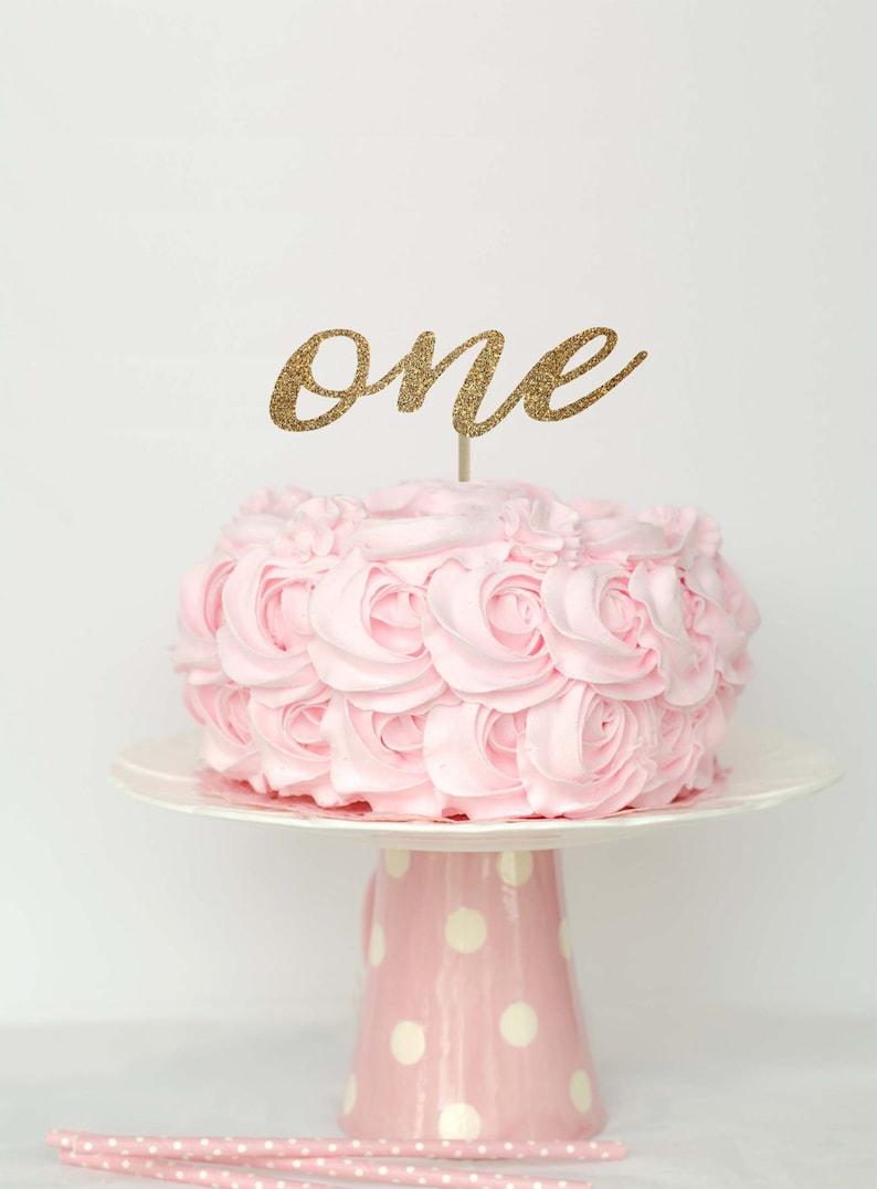 First birthday cake topper 1 cake topper one cake topper | Etsy