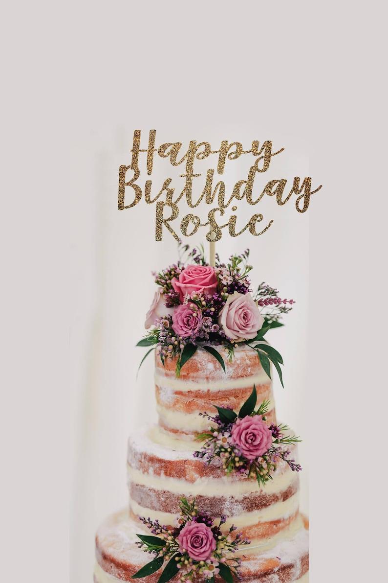 Personalized Birthday Cake Topper Happy Birthday Cake Topper