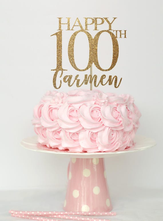 100 And Fabulous Cake Topper Birthday Decorations
