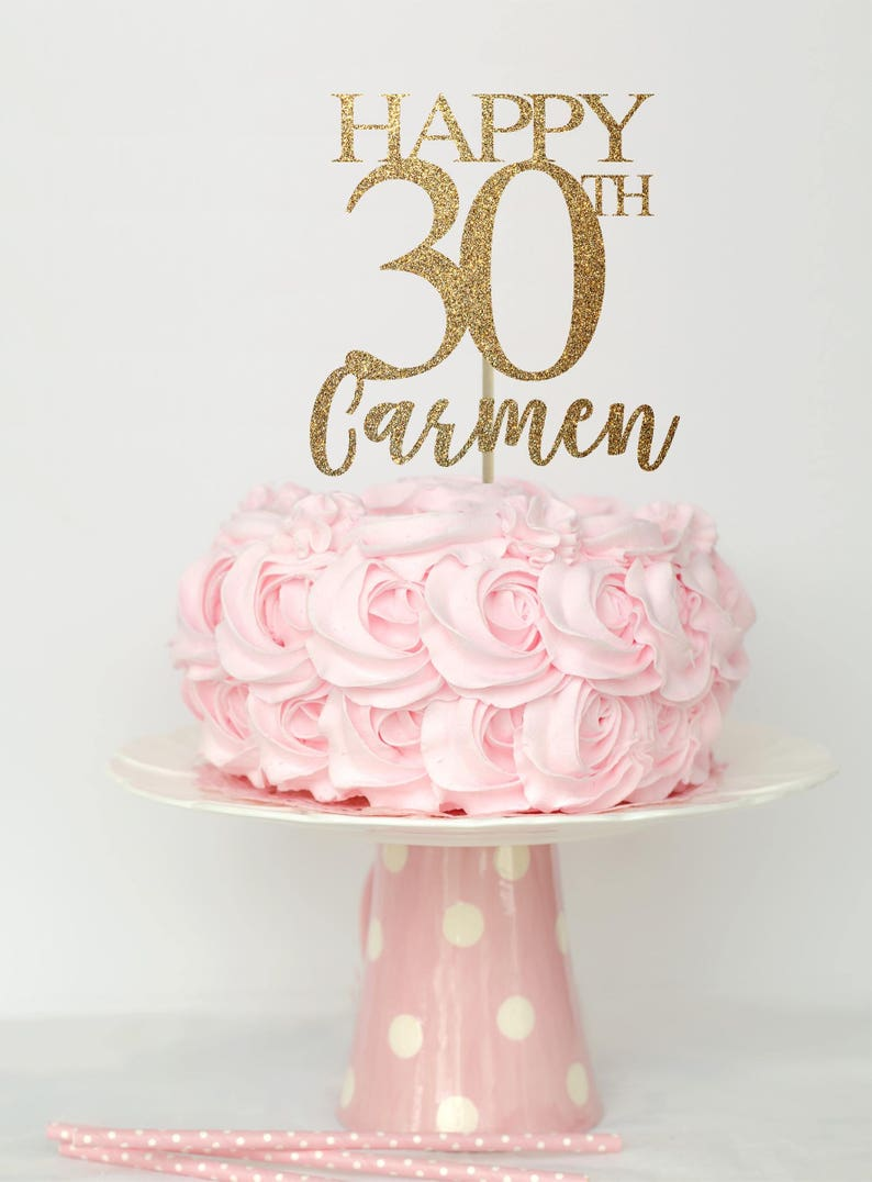 30 And Fabulous Cake Topper Birthday Decorations