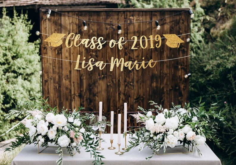 Class Of 2019 Banner Graduation Party Decorations High Etsy