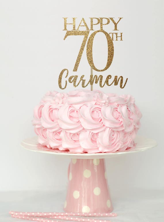 70 Birthday Cake Topper Decorations 70th