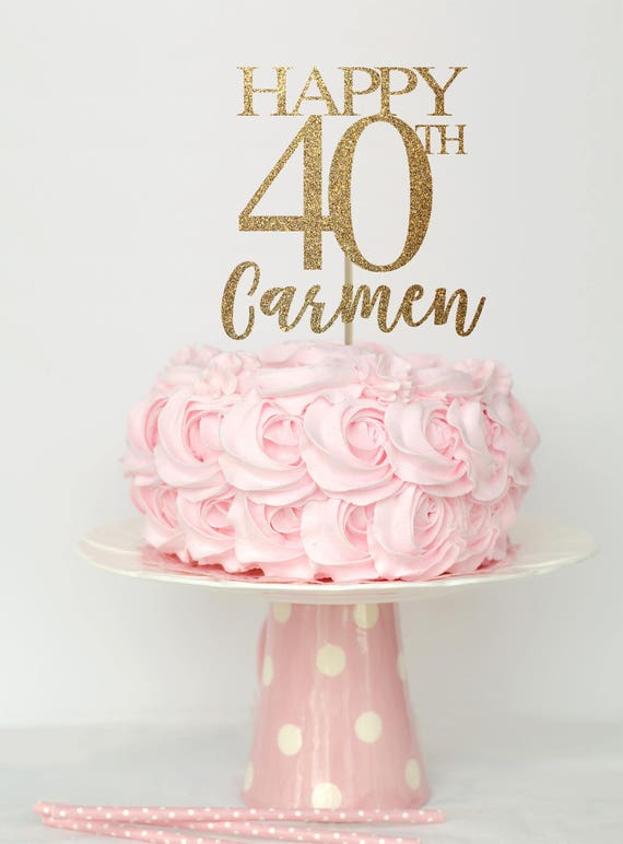 40 And Fabulous Cake Topper 40 Birthday Decorations 40 Etsy