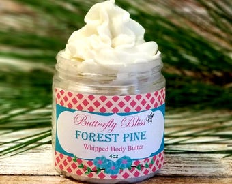 natural body butter | forest pine lotion | christmas body butter | whipped body butter | christmas lotion | moisturizing lotion | gifts