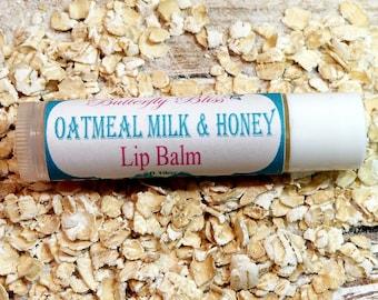 Oatmeal Milk and Honey Lip Balm   beeswax lip balm   sugar lip balm   fall lip balm   dry lips Lip balm   organic lip balm   lip balms