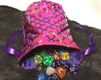 Amethyst Dragon Dice Bag