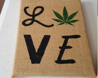 Cannabis love - cannabis inspired art, cannabis decorations, cannabis wall art