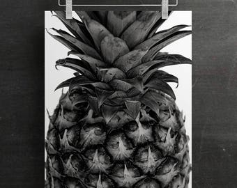 Pineapple Print / Pineapple Wall Art / Modern Prints / Instant Download /  Poster / Tropical Fruit Print / Birthday Gift / New Home Gift