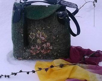 handbag made of wool