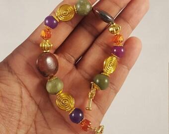 Multicolored Fall Themed Bracelet