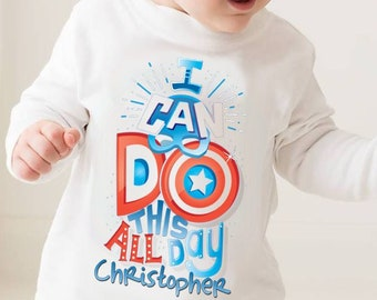 2f49463e Avengers Captain America personalised T-shirt - Marvel, baby shower, super  Hero, Father's Day, New baby, Super Birthday, baby boy, baby girl