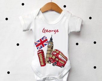 807f459aa7be London personalised baby bodysuit - baby shower gift