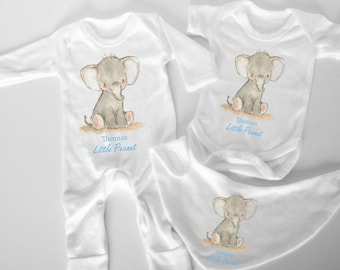 f010d6f730430d Elephant personalised baby set - little peanut