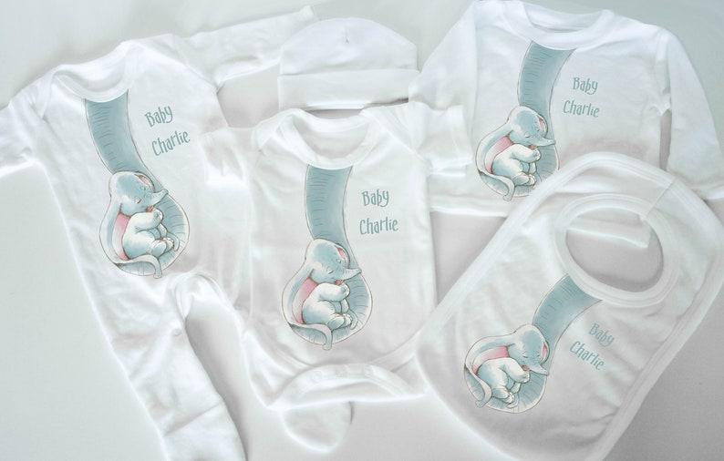 92845c77ea0b Baby elephant personalised baby gift set baby shower new