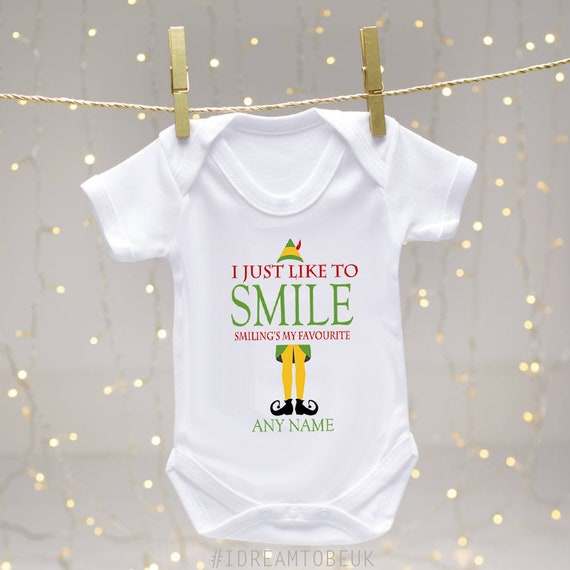 e21c53069 Personalised Christmas Elf baby bodysuit baby shower gift | Etsy