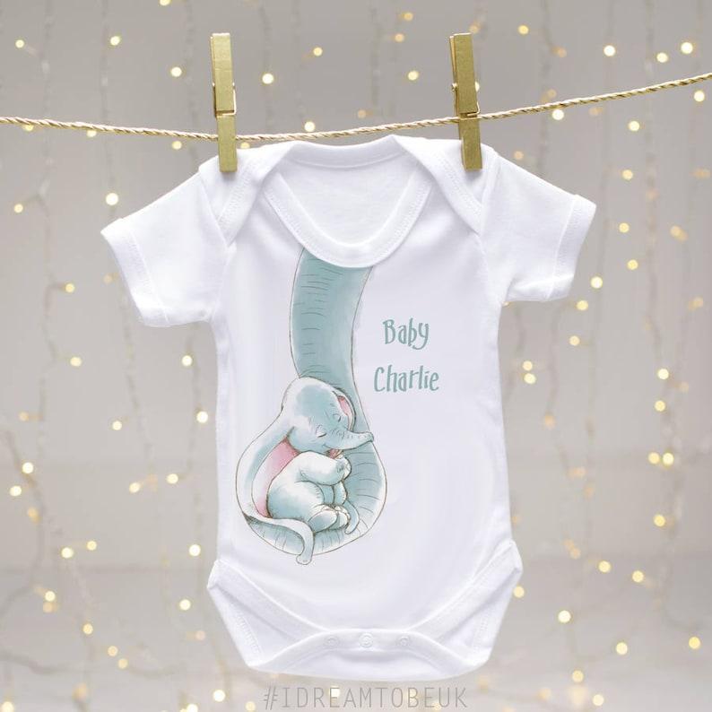 98550abb388f Baby Elephant personalised baby bib baby shower dribble