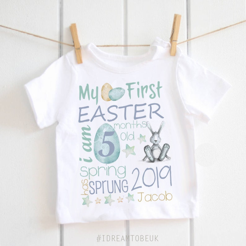 588eff51e My First Easter baby boy T-shirt baby shower my 1st Easter