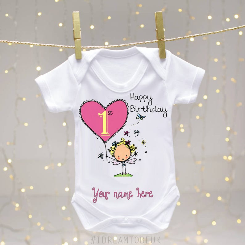fa3093901 Personalised first birthday baby vest - Body suit