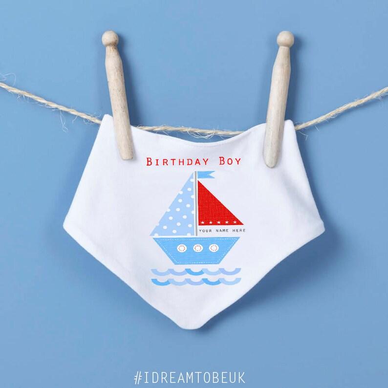 baby grow first birthday body suit personalised blue boat birthday boy Birthday baby vest sailing boat 1st birthday birthday gift