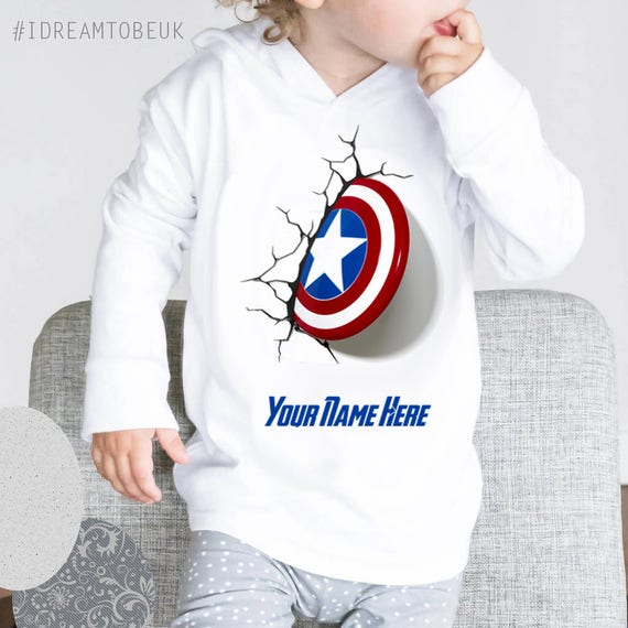 PERSONALISED MARVEL UNISEX HOODIE ADD YOUR NAME HULK AVENGERS PARTY GIFT TOP