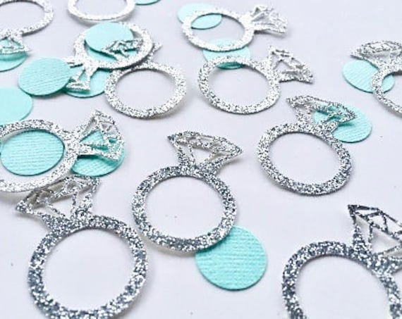 Engagement Table Confetti - Engagement Ring Confetti - Wedding Confetti - Bridal Shower Confetti - Engagement Ring Table Confetti - IDo