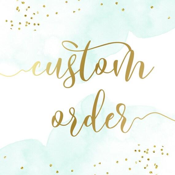 Custom Order for iteach6