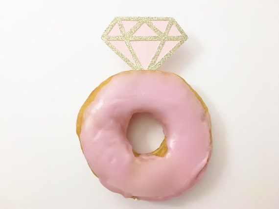 Diamond Donut Toppers - Donut Toppers - Wedding Cupcake Toppers - Bridal Shower Cupcake Toppers - Diamond Cupcake Toppers - Cupcake Topper