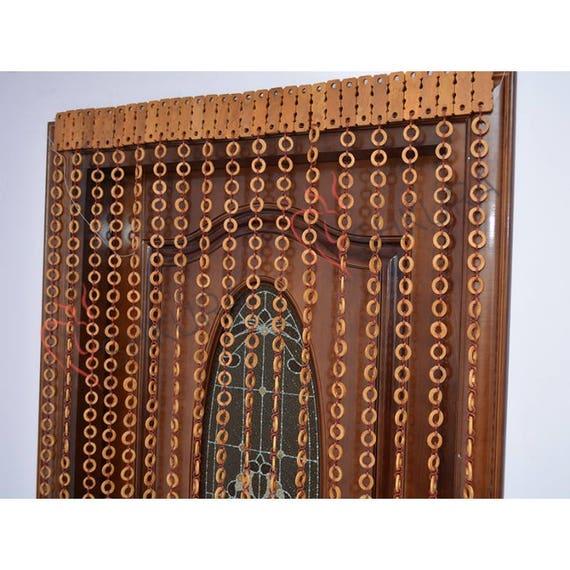 Perle Türvorhang Dekor Für Wohnzimmer Holz Jalousien Perlen | Etsy