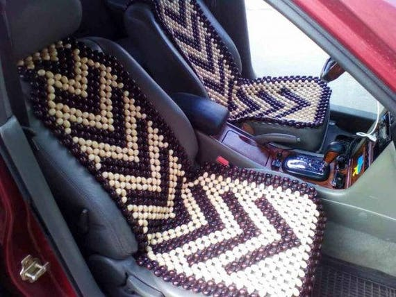 PAIR Car Seat Cover Massager Wood Cape