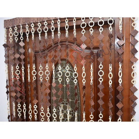 Porte Rideau porte perles perle Rideau décor bois Stores porte | Etsy