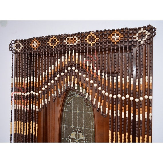 Beaded Door Curtain Decor For Living Room Wood Blinds Wall