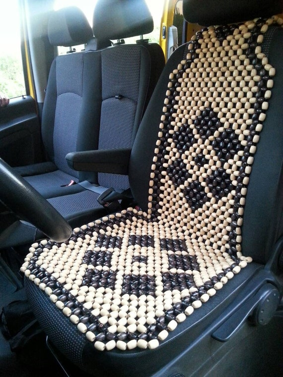 Beaded Car Seat Cover For Car Wooden Beads Car Seat Cover Car Etsy