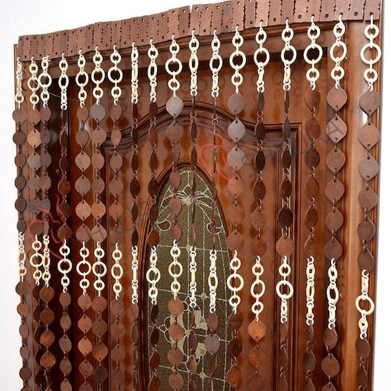 Door Curtain Door Beads Door Bead Curtain Decor Wood Blinds | Etsy