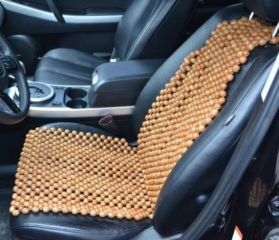 A-Express/® 2 Cuscini massaggianti decorati con perline in legno per sedili auto anteriori.