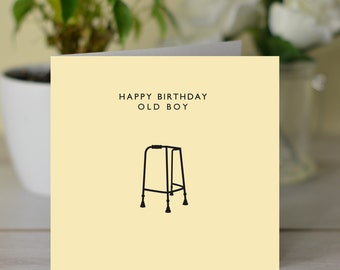 I just wanted to say aloe card saying hello card thinking of old boy happy birthday card old boy card youre old card getting old card funny greetings card pun card adult card humorous card m4hsunfo