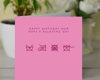 Happy Birthday Mum Have A Relaxing Card For Mother