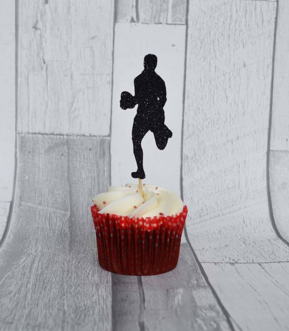 Rugby Party Cupcake Toppers Birthday