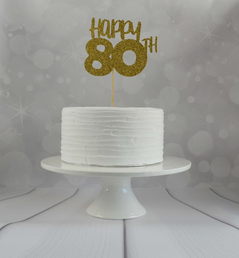 80th Birthday Cake Topper Party Decorations