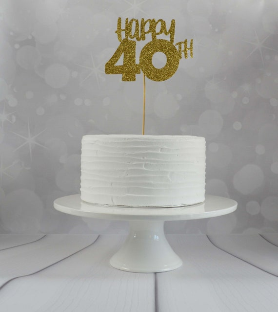 40th Birthday Cake Topper Party Decorations
