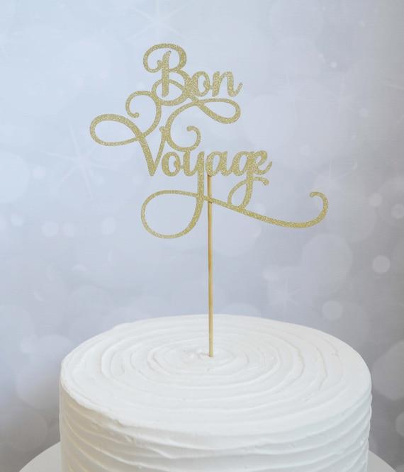 Retirement Party Cake Topper Bon Voyage Cake Topper | Etsy