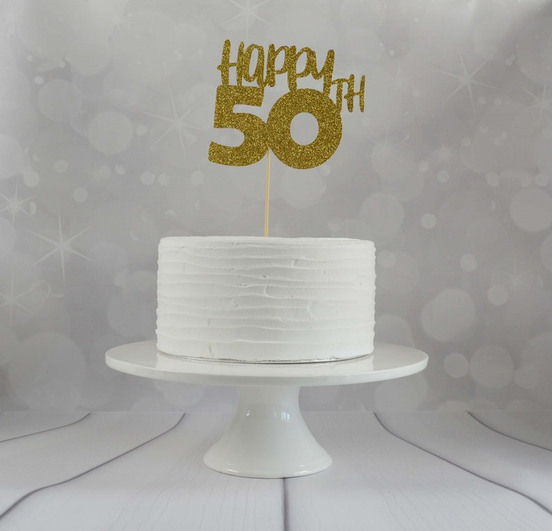 50th Birthday Cake Topper Party Decorations