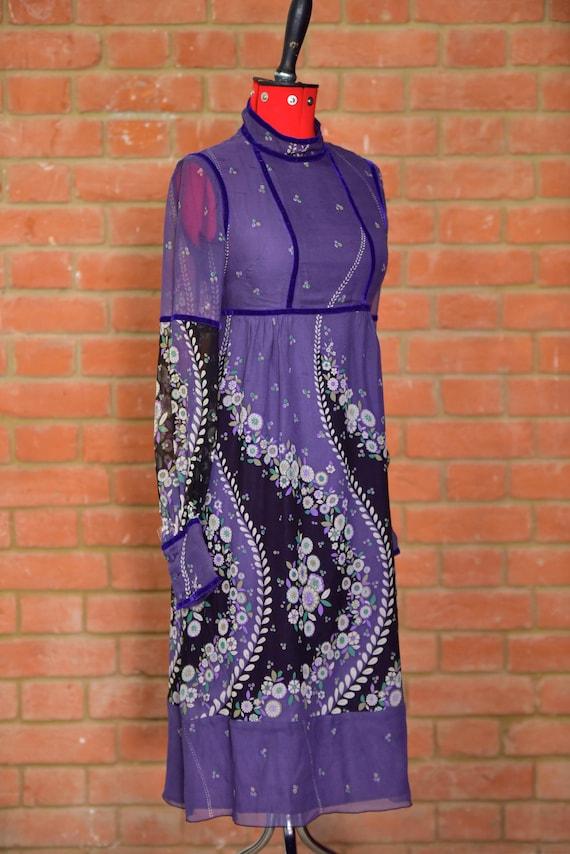 Anna Sui original vintage style empire line dress