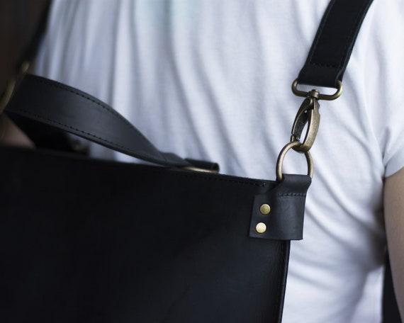 Schwarze Tasche stilvolle Rucksack große Handtaschen handgemachte Rucksack Leder Tote Handtasche schwarz Ledertasche Convertible Rucksack Frauen