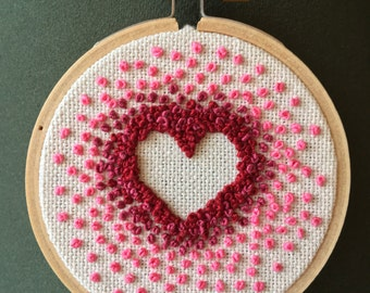 """Gradient Ombre 3"""" Heart Embroidery"""
