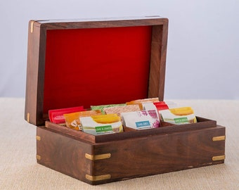 Tea Caddies Vintage Wooden Tea Caddy Spice Stash Storage Organizer Box Spice Container Asian Antiques