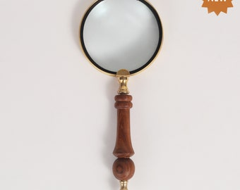 Maritime Precise Magnifier Full Brass Henry Hughes London Ltd.1942-hand Held Magnifying Glass