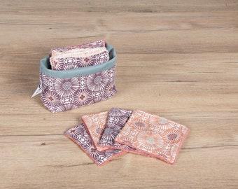 Set of 8 cotton pads + pouch