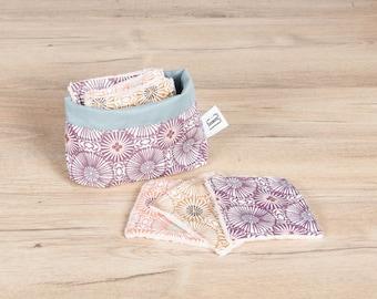 Set of 6 cotton pads + pouch